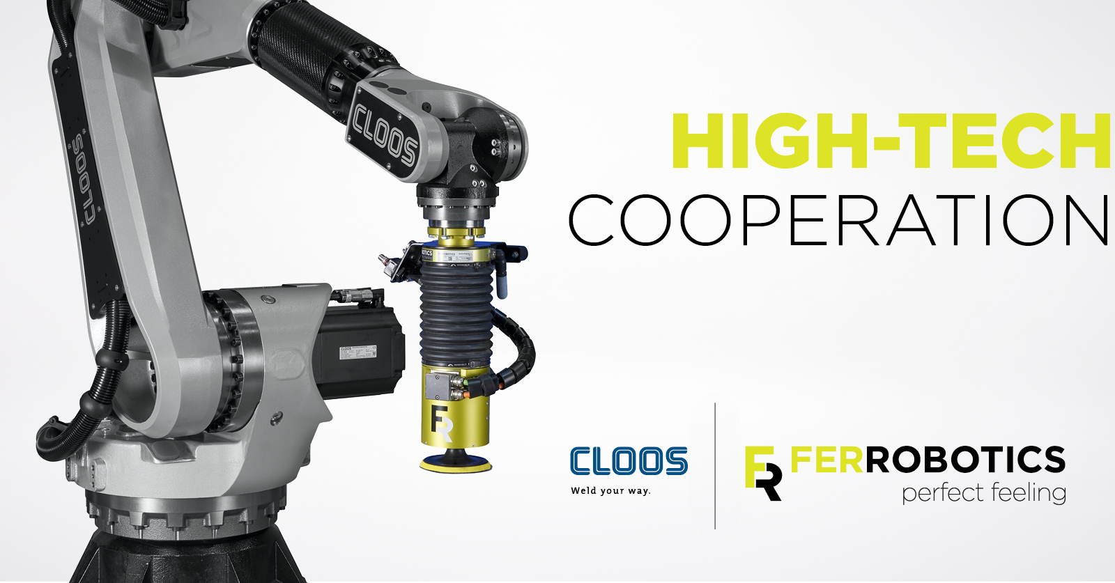 FerRobotics CLOOS robotic welding grinding cooperation
